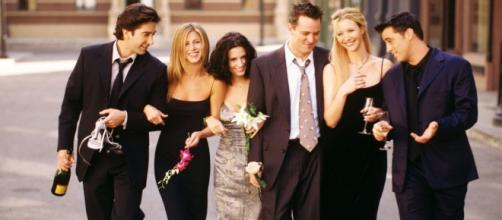 The team from the serial together.