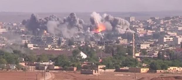Bombardeo en el Estado Islámico