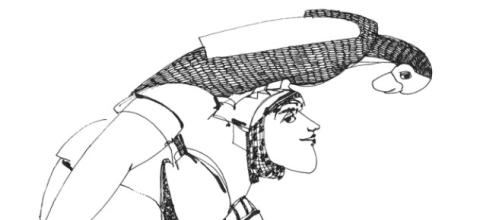 Desenho de Armanda Passos a tinta-da-china.
