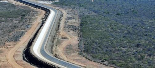 Foto aérea do projeto de transposição