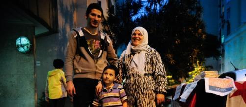 Una familia de refugiados sirios en Brasil.