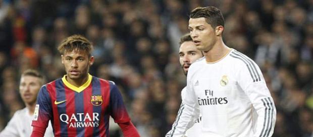Crsitiano y Neymar en un Real Madrid-Barça