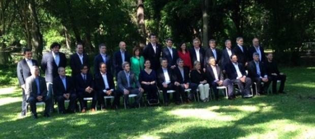El equipo de Mauricio Macri (ph: Perfil)