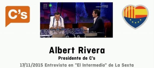 Foto de la entrevista a Rivera en 'El Intermedio'.