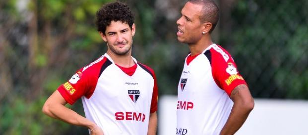 Pato e Luis Fabiano treinam no São Paulo