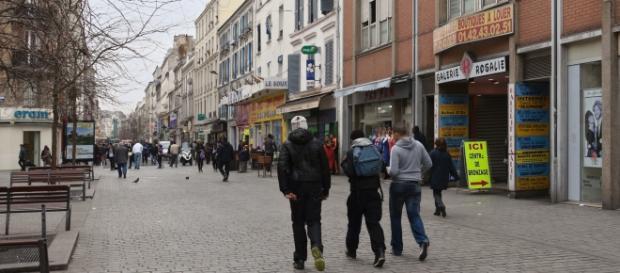 Snapshot of Saint-Denis where the raid took place