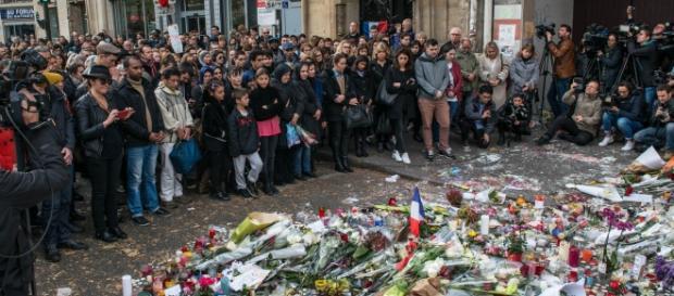 Uma das homenagens aos que morreram nos atentados