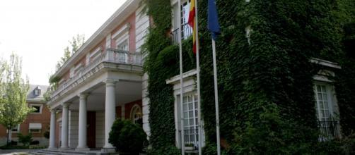 El Palacio de La Moncloa solitario