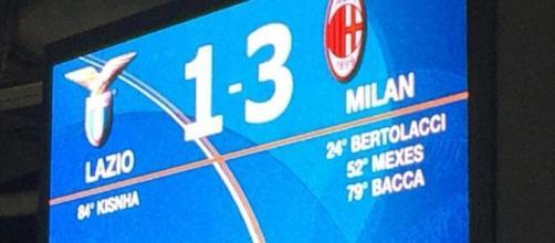 Il Milan ha espugnato 3-1 l'Olimpico biancoceleste