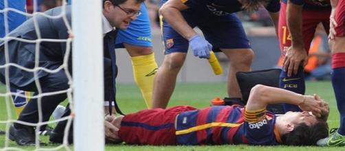 Leo Messi el día de su lesión.