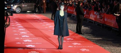Silvia Munt en la alfombra roja de la SEMINCI