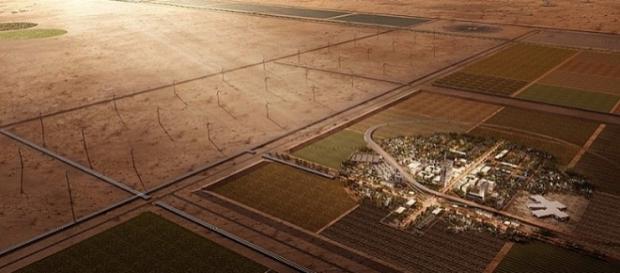 Cidade laboratório no meio do deserto