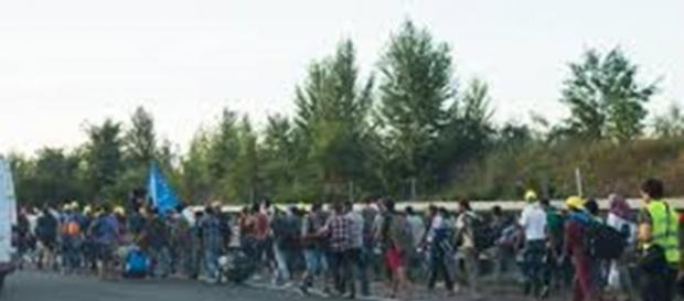 Imigranci zmierzający do Niemiec