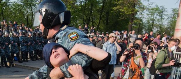 La Policía rusa en acción en imagen de archivo
