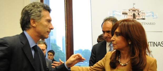 Macri, Daniel Scioli y Cristina Fernández