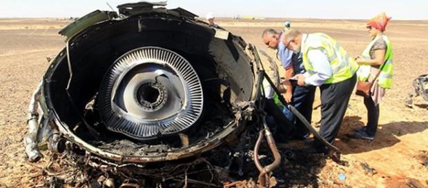 Turbina do Avião Russo que caiu no Egito.