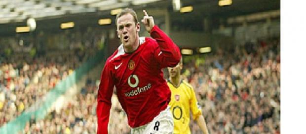 Wayne Rooney, attaccante inglese.