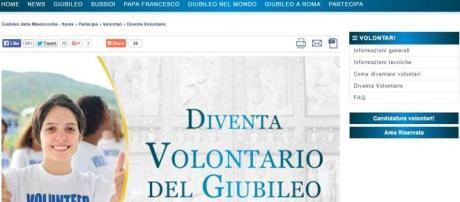 Pagina dedicata ai Volontari del Giubileo