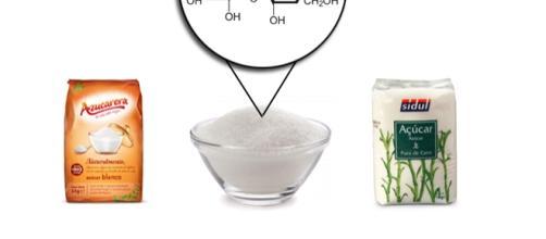 Azúcar blanco y azúcar moreno, muy parecidos