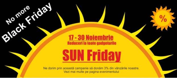 Gata cu Black Friday, trăiască Sun Friday!