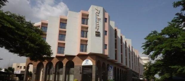 O hotel de luxo Radisson Blu em Bamaco.