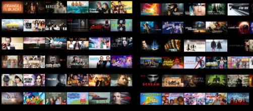 Netflix Italia, una parte del catalogo