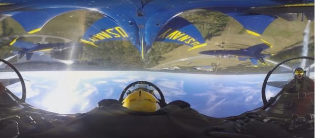 Reprodução do vídeo de vôo 360º