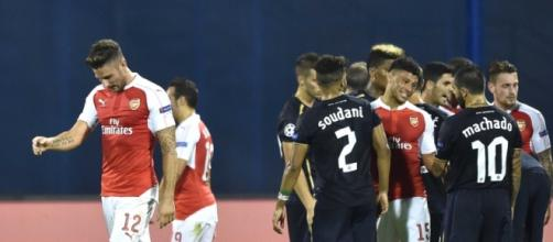 Giroud viene espulso nel match d'andata.