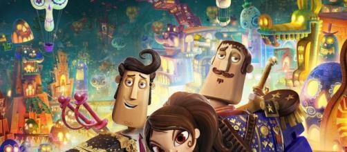 Os três amigos e protagonistas do filme.