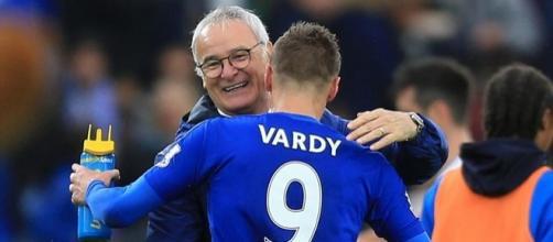 Ranieri e Vardy. Foto da Eurosport com