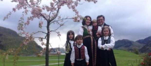 Instantaneu cu familia Bodnariu