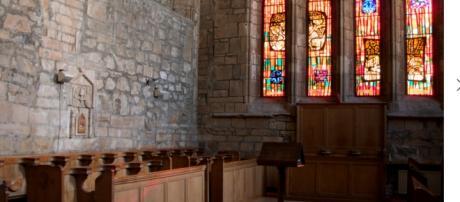 Interno dell'abbazia di Pluscarden a Elgin, Scozia