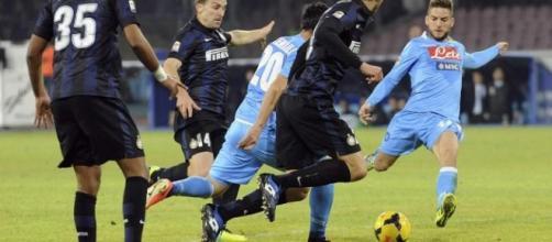 Driens Mertens al tiro contro i neroazzurri