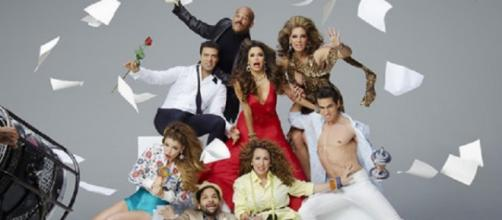 Longoria and cast of Telenovela