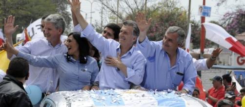Mauricio Macri en campaña presidencial.