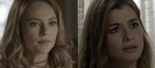 Lívia e Melissa são irmãs em 'Além do Tempo'