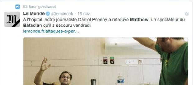 Matthew miał szczęście dwa razy - Twitter.com