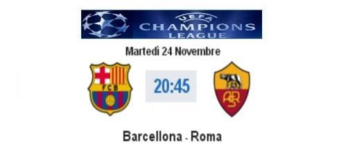 Barcellona - Roma in diretta live e info streaming