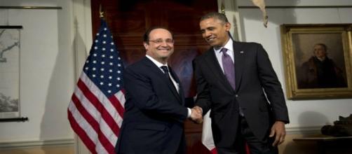 Fotografia di Hollande e Obama