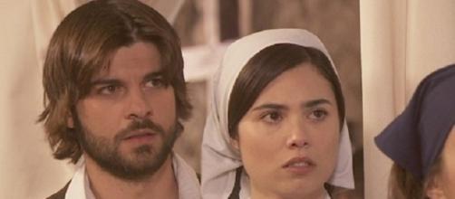 Maria assiste i malati colpiti dall'epidemia.