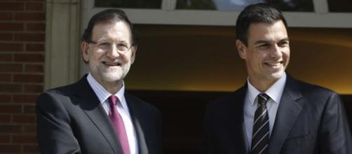 Mariano Rajoy (PP) y Pedro Sánchez (PSOE)