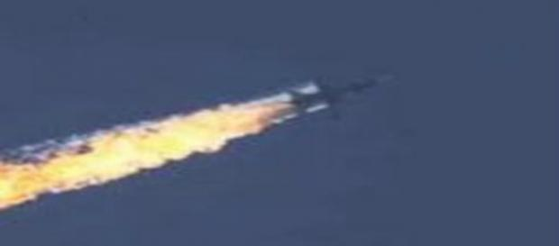 L'aereo russo abbattuto dalla Turchia