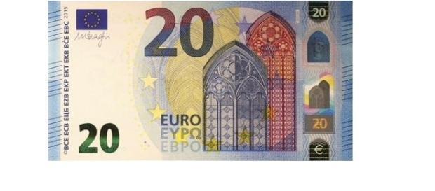 Nuova banconota da 20 euro della serie Europa