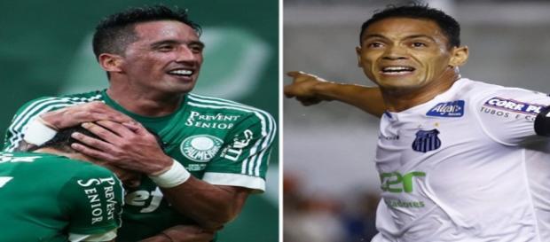 Os goleadores Lucas Barrios e Ricardo Oliveira