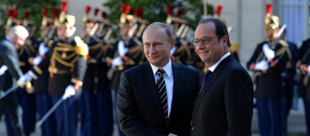Vladimir Putin e François Hollande