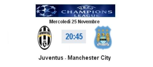 Juventus - Manchester City in diretta live