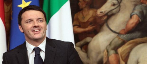 Foto del presidente del consiglio Matteo Renzi