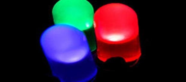 Lámparas led de colores, base del sistema.