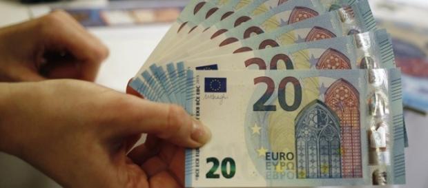 """Nota de 20 euros da série """"Europa""""."""