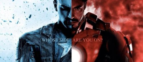 Captain America versus Iron Man.